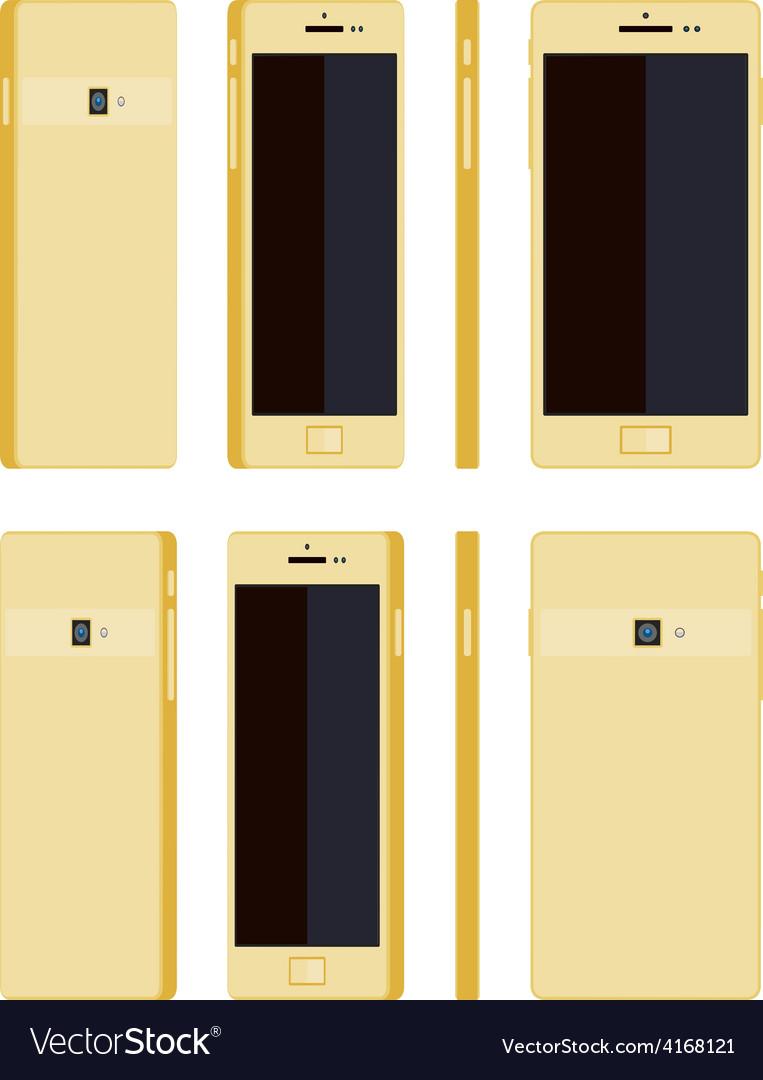 Generic gold smartphone vector | Price: 1 Credit (USD $1)