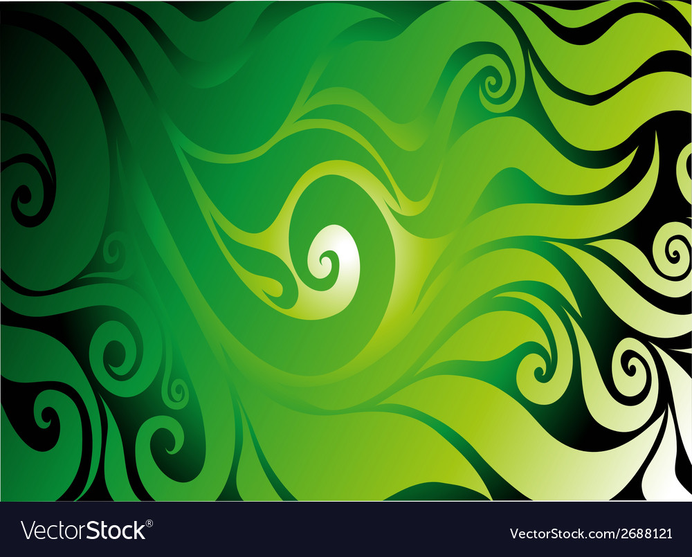 Green seamless on dark background with abstract vector | Price: 1 Credit (USD $1)