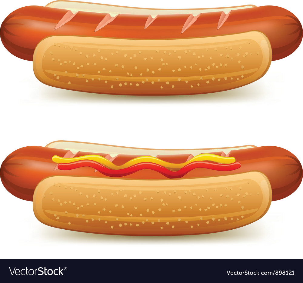 Hotdog ketchup mustard vector | Price: 3 Credit (USD $3)