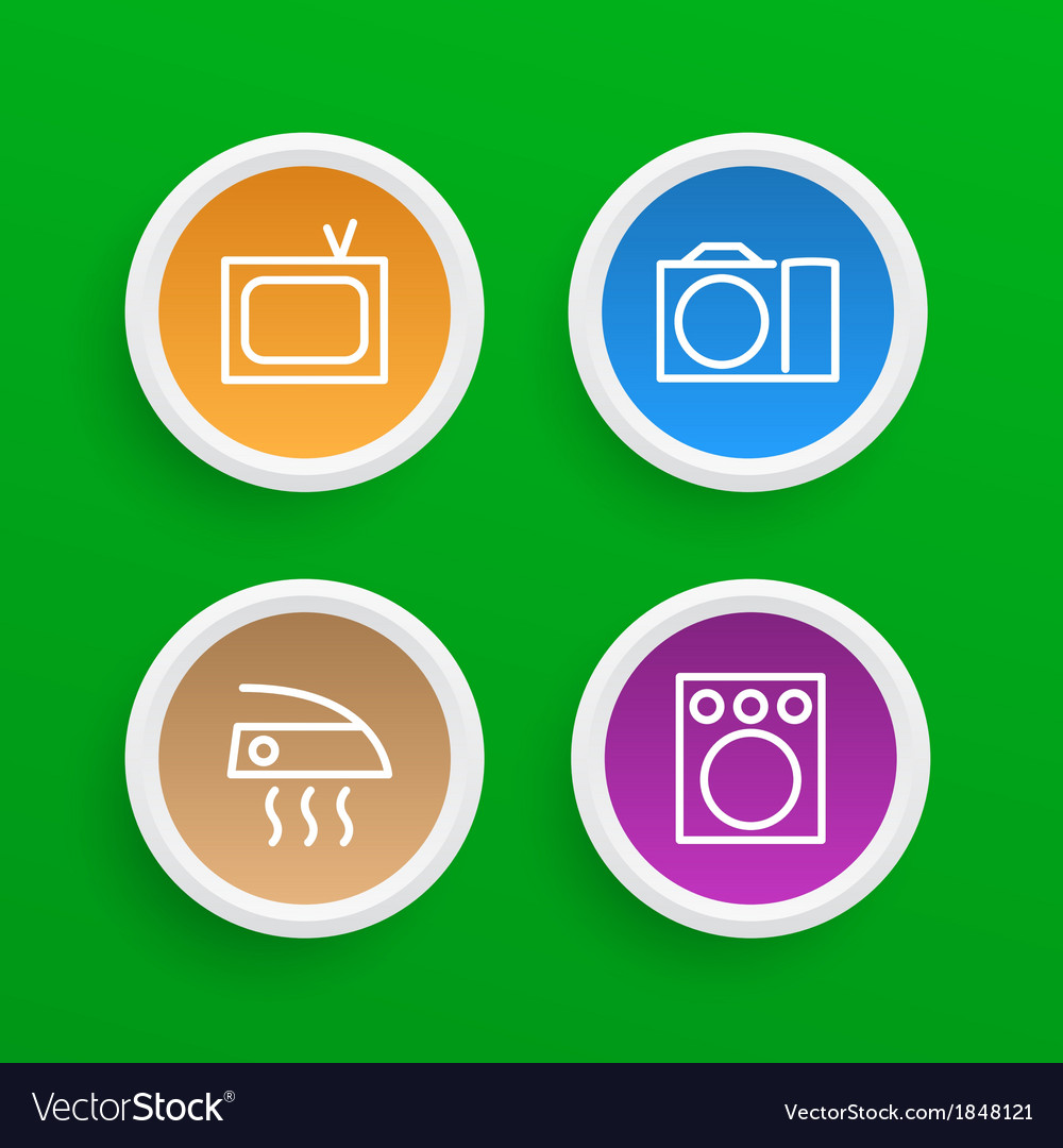 Household appliances icons vector | Price: 1 Credit (USD $1)