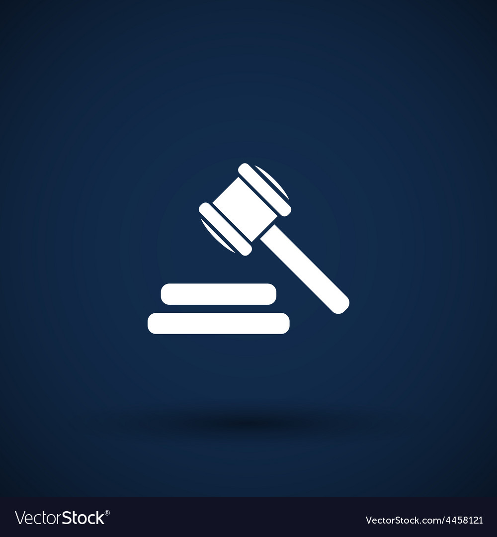 Icon gray background gavel law legal hammer vector | Price: 1 Credit (USD $1)