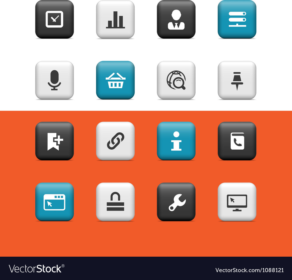 Internet and web buttons vector | Price: 1 Credit (USD $1)