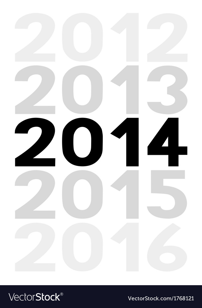 New year 2014 is coming soon5 vector | Price: 1 Credit (USD $1)