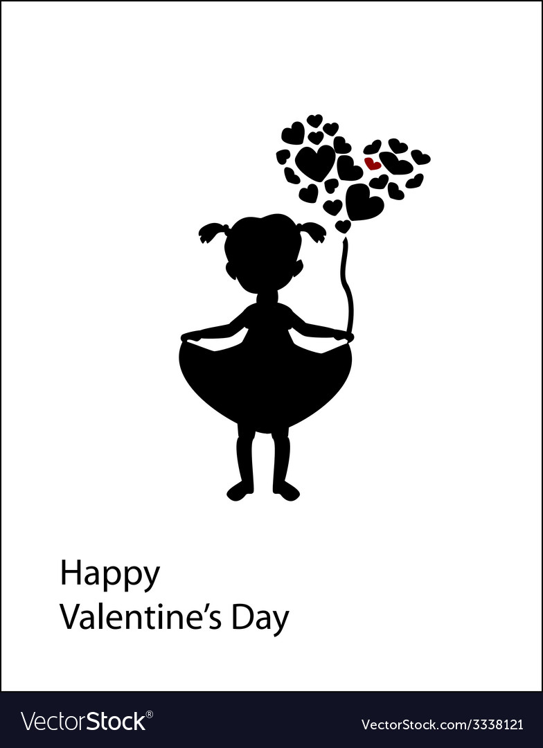 Postcard valentines day vector | Price: 1 Credit (USD $1)