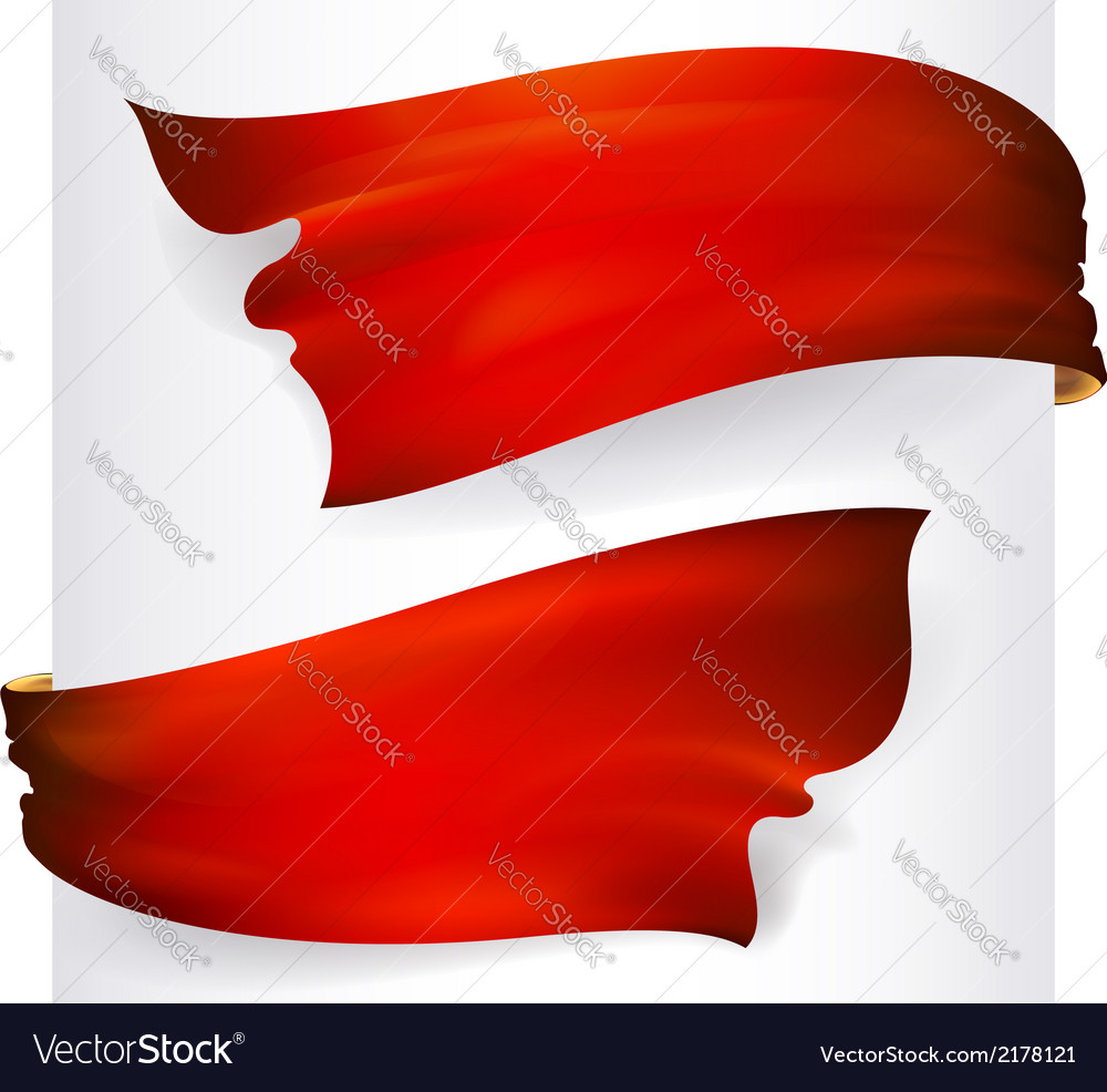 Red waving ribbon banner drawing vector | Price: 1 Credit (USD $1)