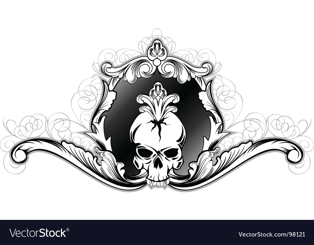 Skull in frame vector | Price:  Credit (USD $)