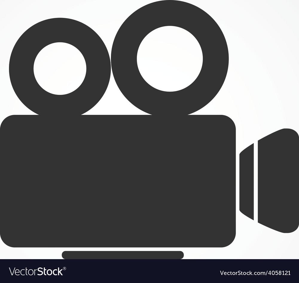Video camera icon flat design vector | Price: 1 Credit (USD $1)