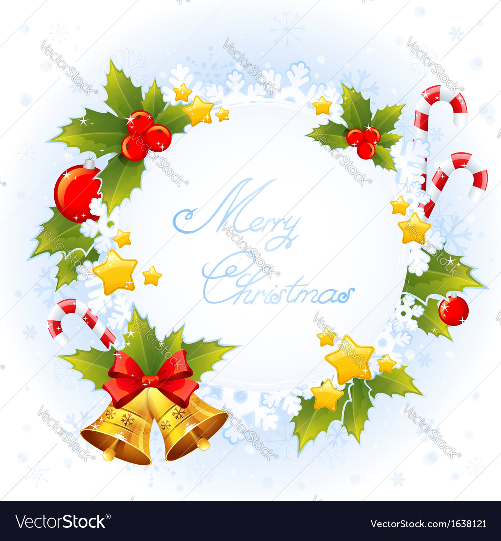 Xmas decorative congratulation card with symbols vector | Price: 1 Credit (USD $1)
