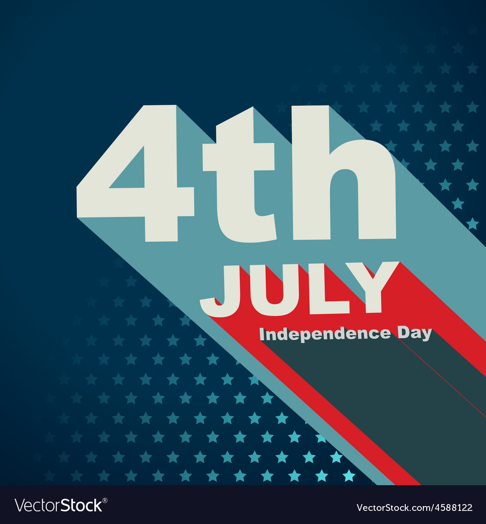 4th of july text vector | Price: 1 Credit (USD $1)