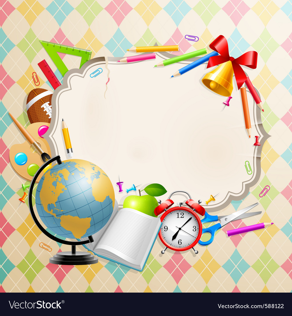 Back to school greeting card vector | Price: 5 Credit (USD $5)