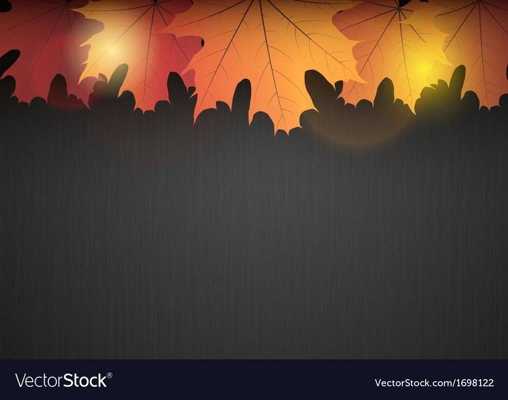 Background autumn dark leaf orange vector | Price: 1 Credit (USD $1)