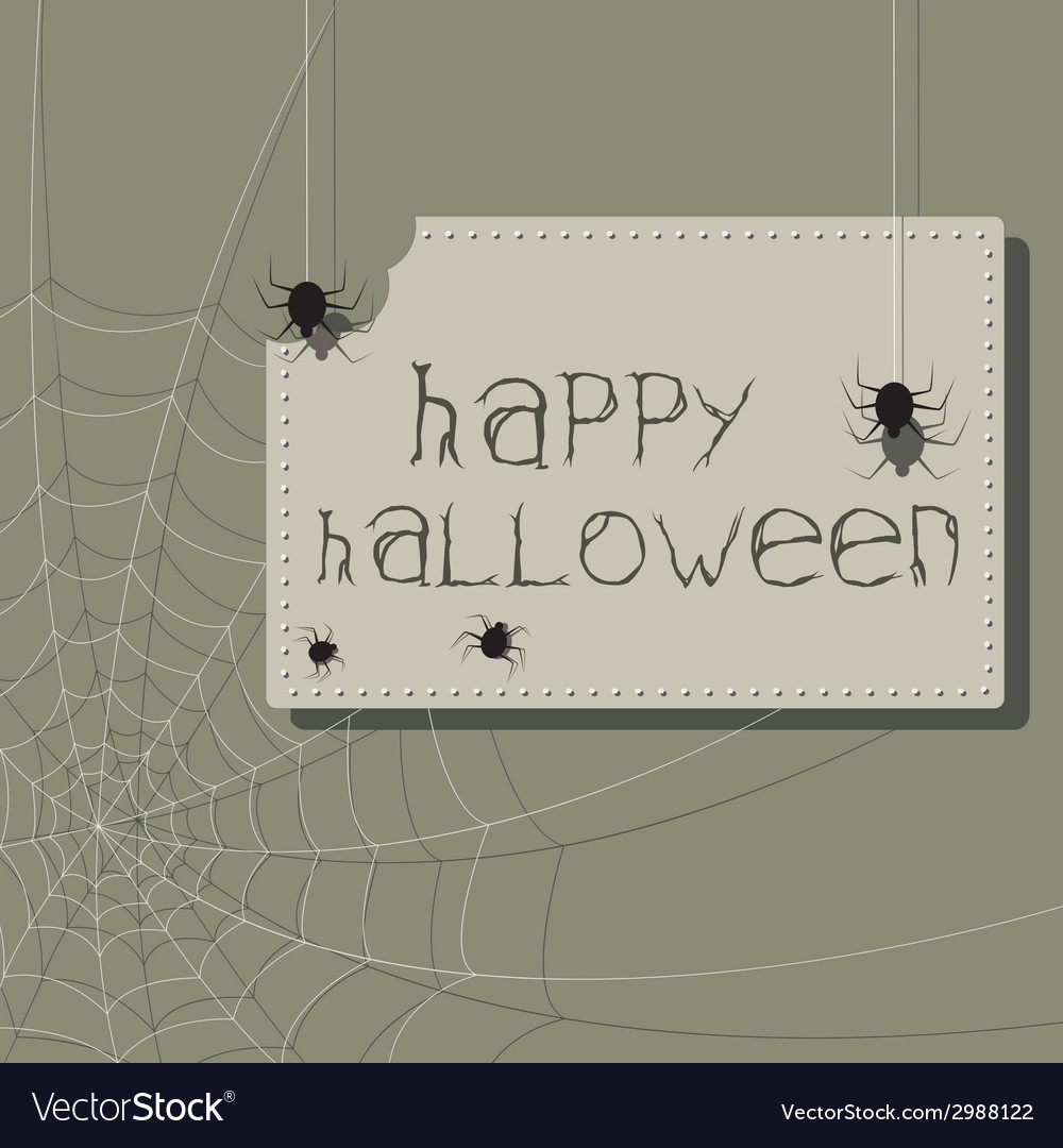 Bitten sign halloween invitation with spiders and vector | Price: 1 Credit (USD $1)