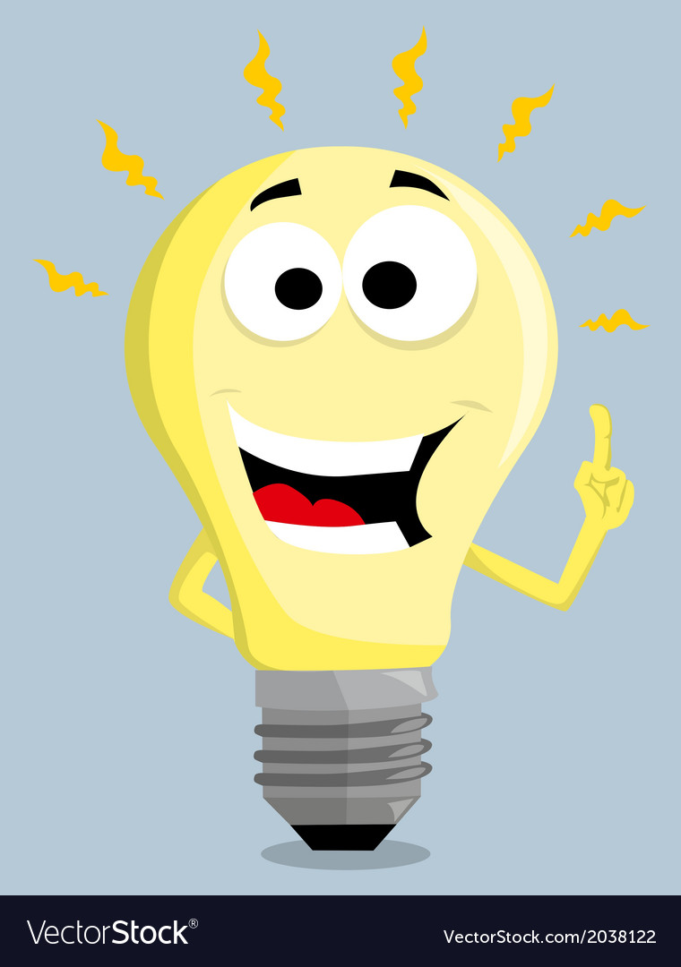 Cartoon light bulb vector | Price: 1 Credit (USD $1)