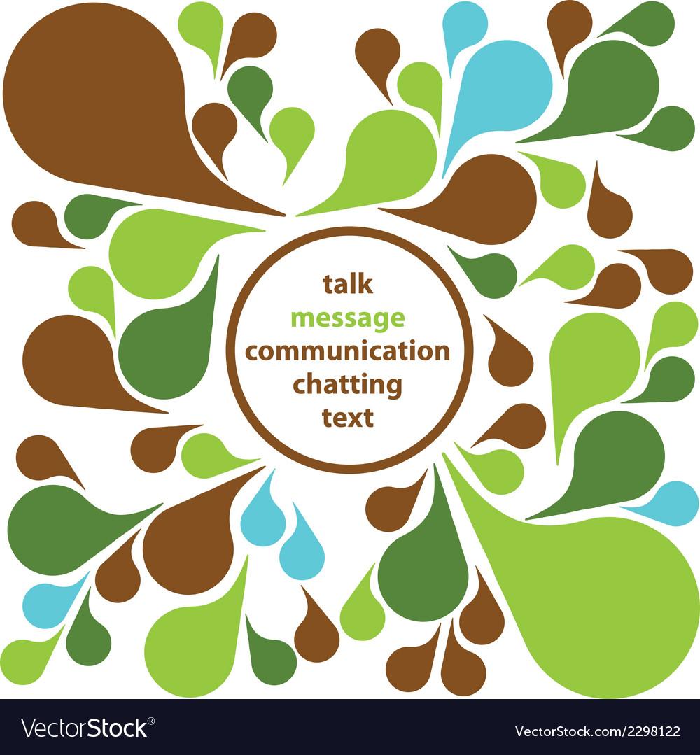 Communication bubbles vector | Price: 1 Credit (USD $1)