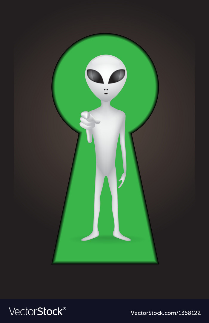 Keyhole alien vector | Price: 1 Credit (USD $1)