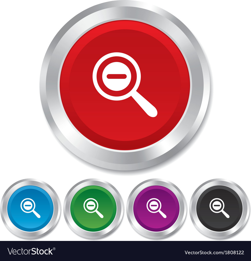 Magnifier glass sign icon zoom tool navigation vector | Price: 1 Credit (USD $1)