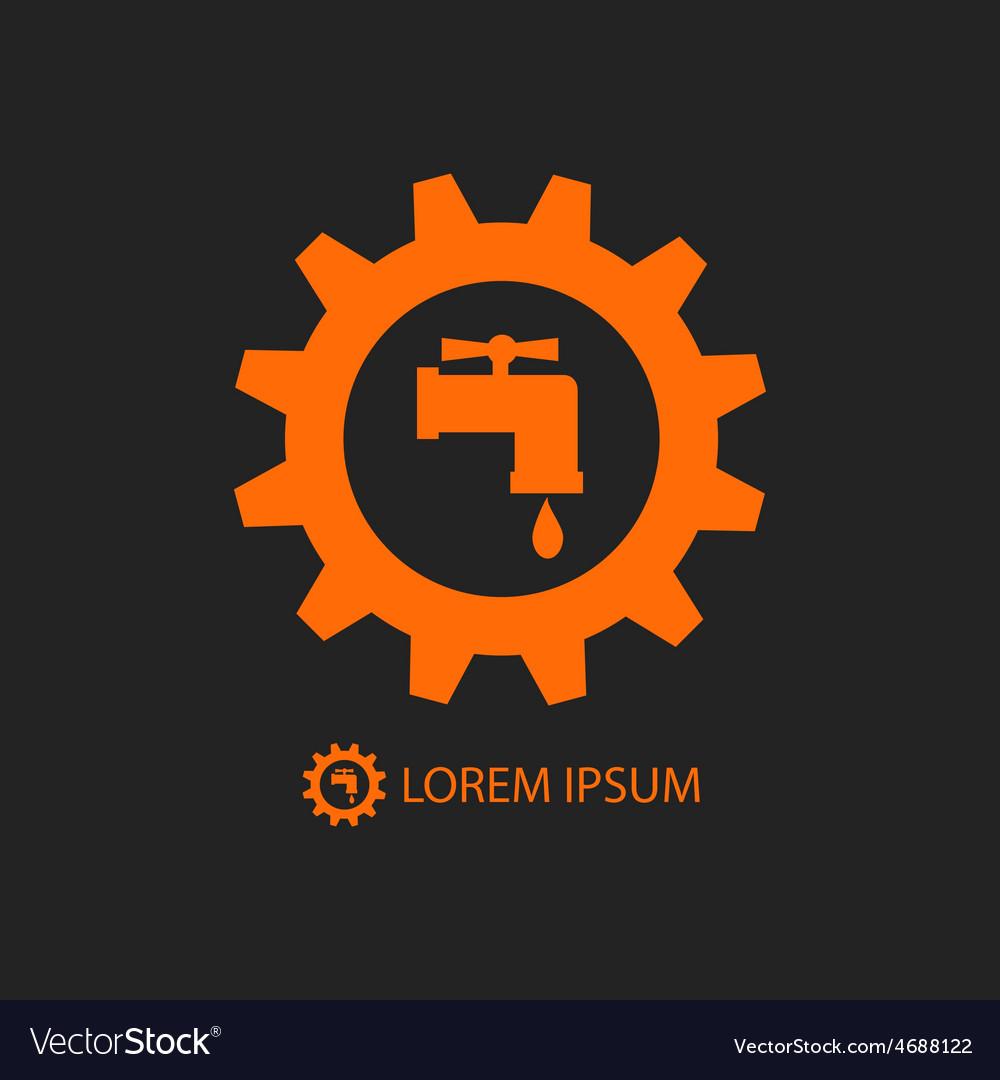 Orange plumbing logo vector | Price: 1 Credit (USD $1)