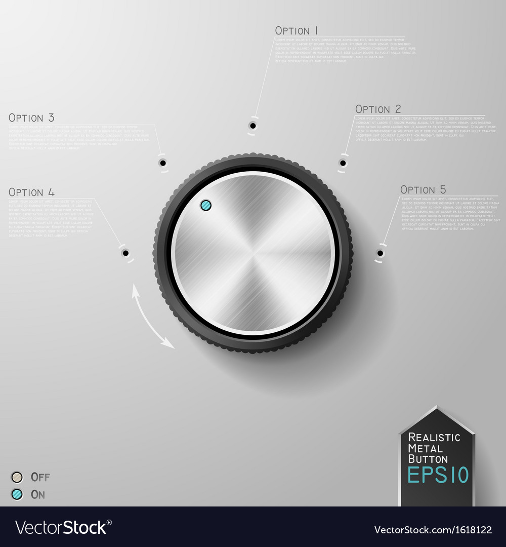 Realistic metal knob vector | Price: 1 Credit (USD $1)