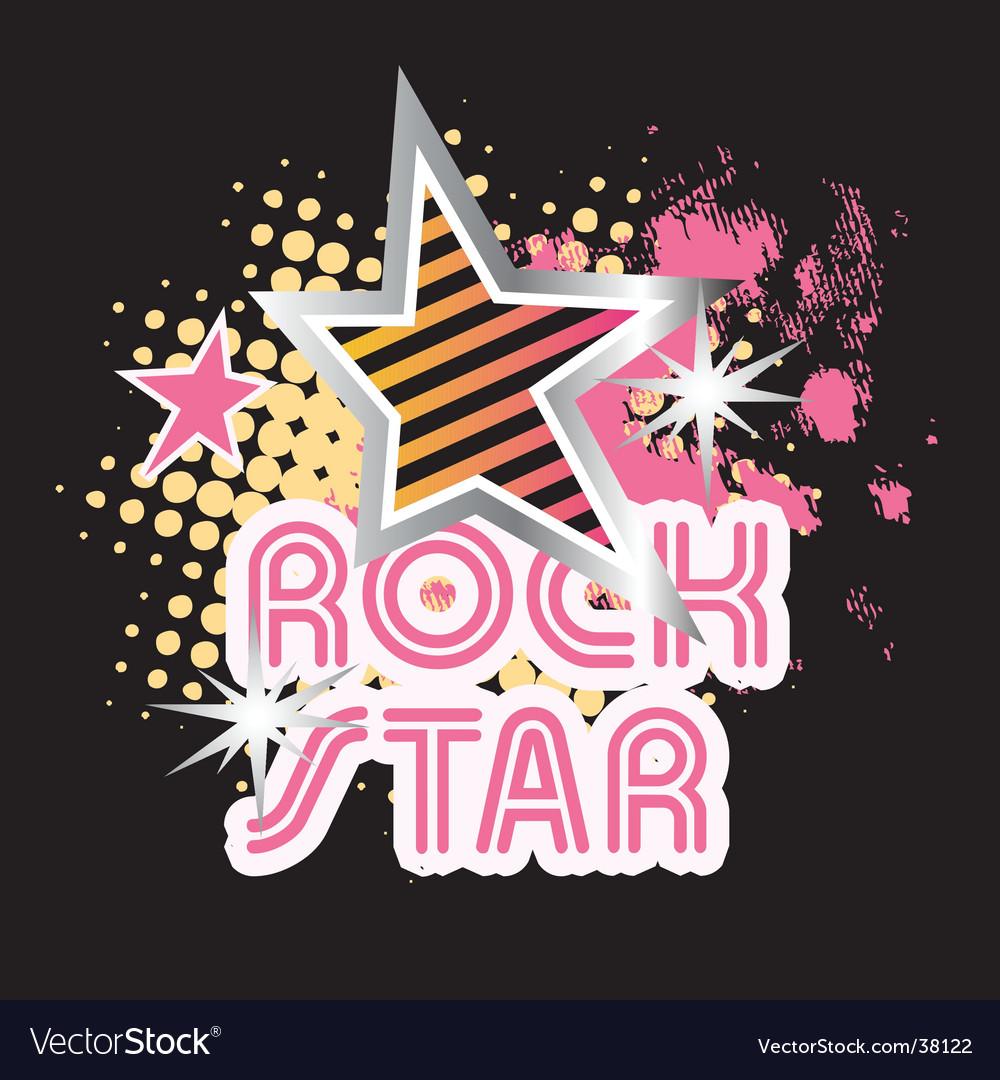 Rock star graphic vector | Price: 1 Credit (USD $1)