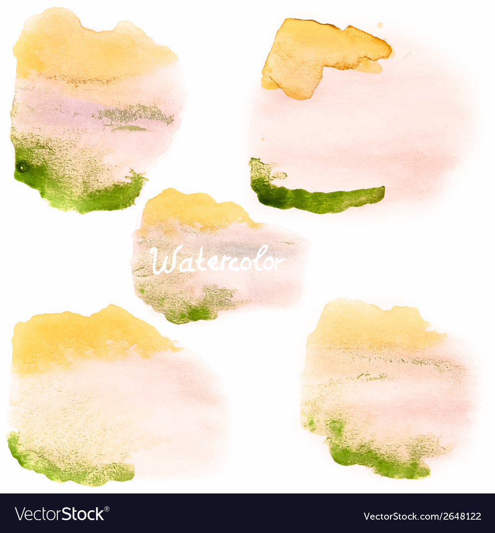 Watercolor art hand paint on white eps 10 vector | Price: 1 Credit (USD $1)