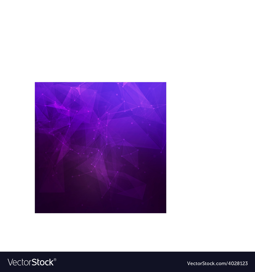 Abstract low poly dark purple bright technology vector | Price: 1 Credit (USD $1)
