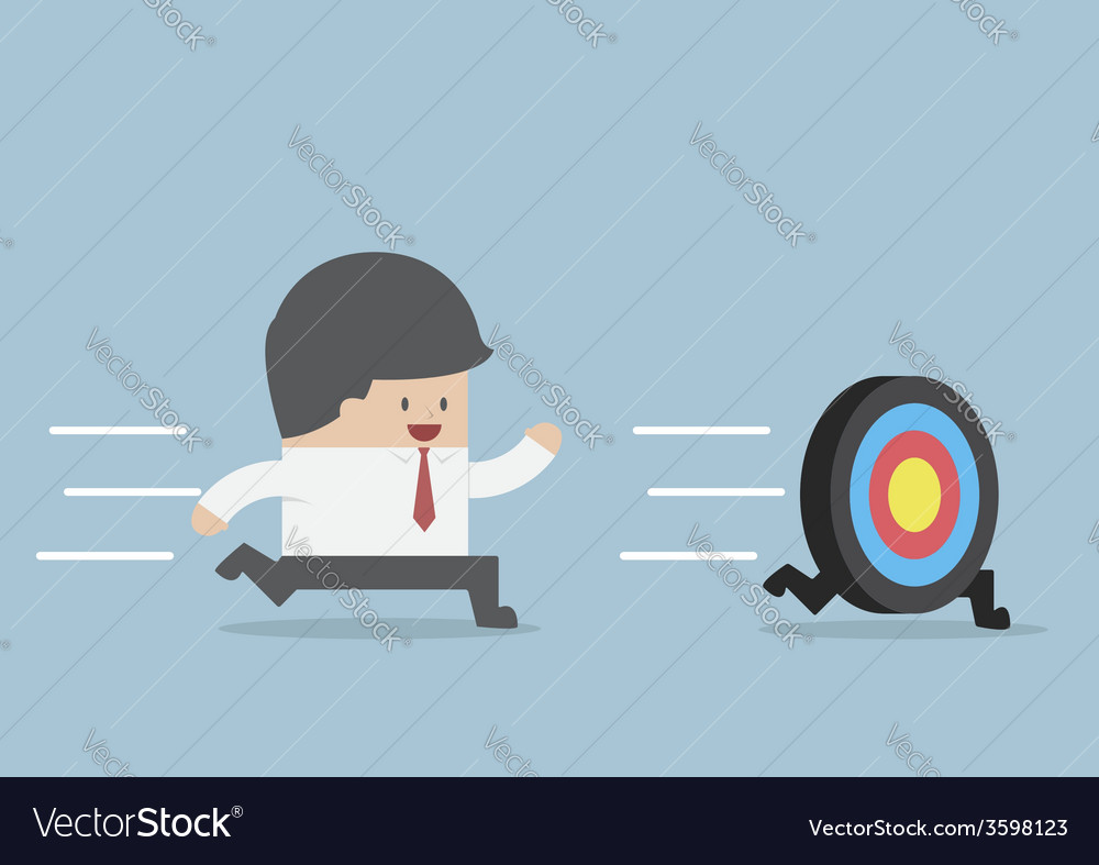 Businessman try to catch the target vector | Price: 1 Credit (USD $1)