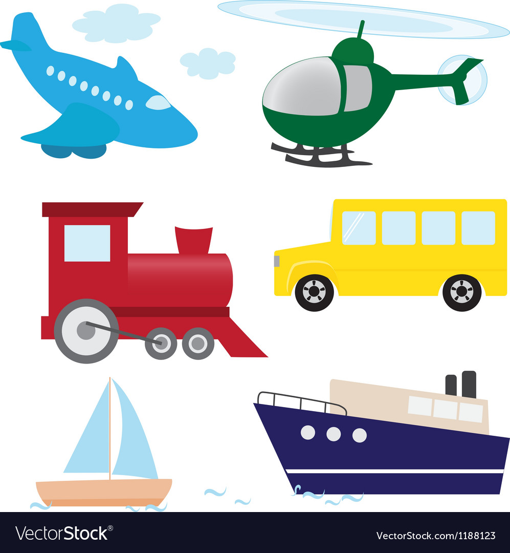 Cartoon transport set vector | Price: 1 Credit (USD $1)