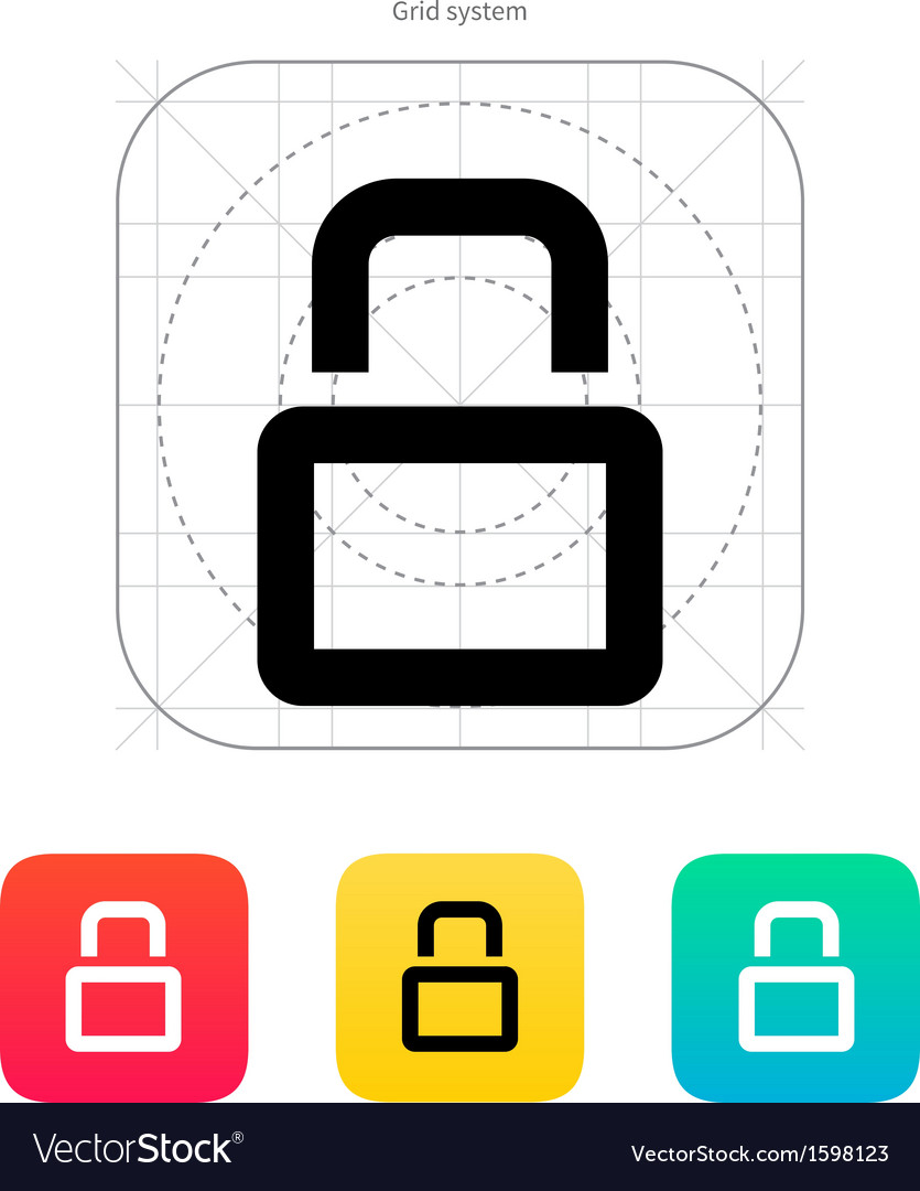Close padlock icon vector | Price: 1 Credit (USD $1)
