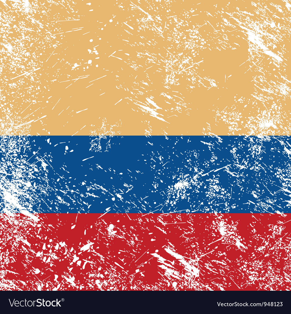 Colombia retro flag vector | Price: 1 Credit (USD $1)
