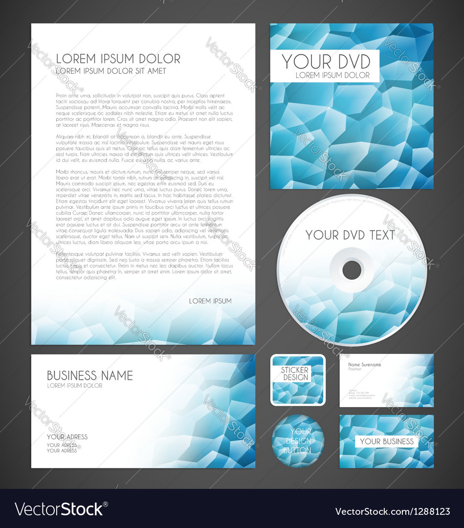 Modern crystal graphic business layout vector | Price: 1 Credit (USD $1)
