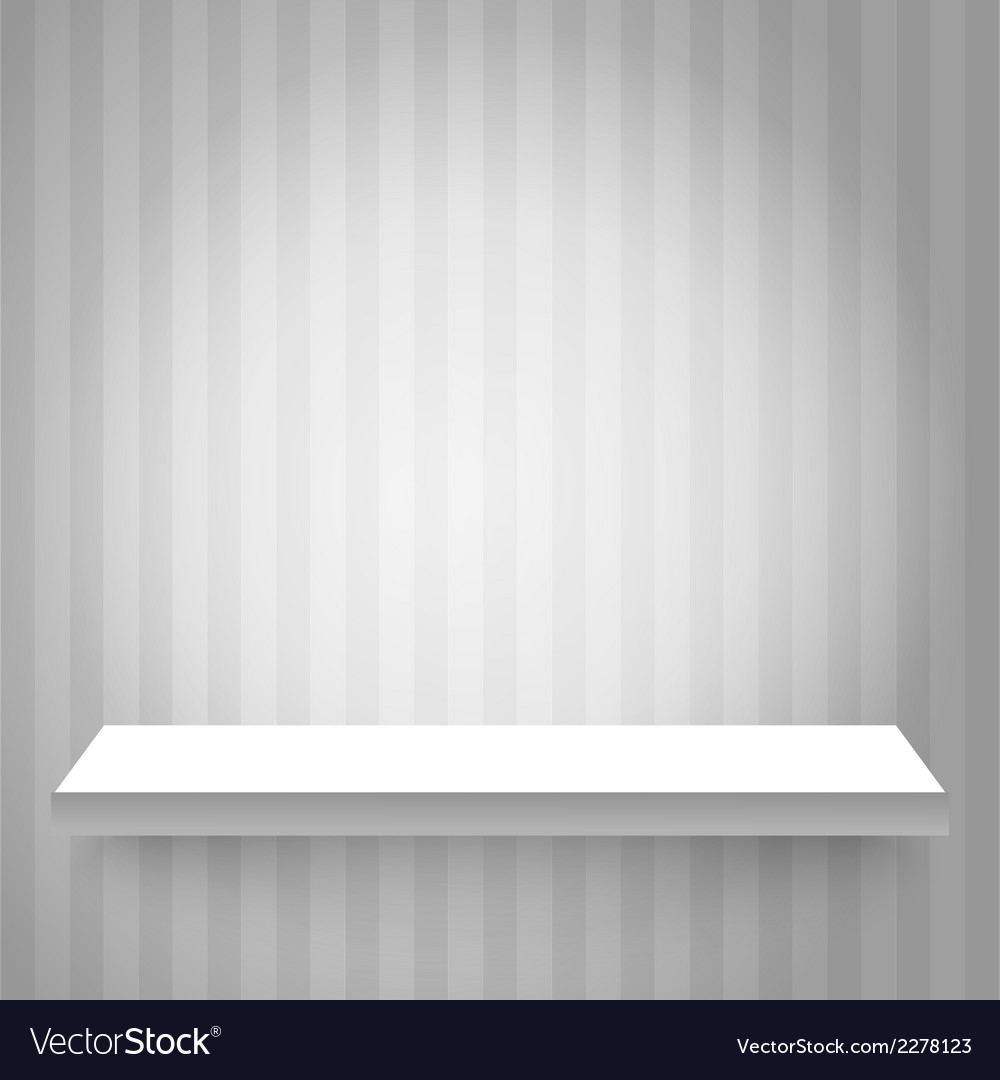 Shelf on the wall vector | Price: 1 Credit (USD $1)