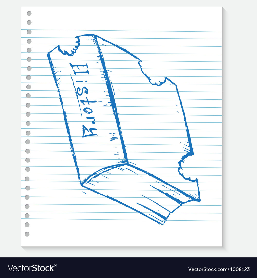 Sketch book on a notebook sheet vector | Price: 1 Credit (USD $1)
