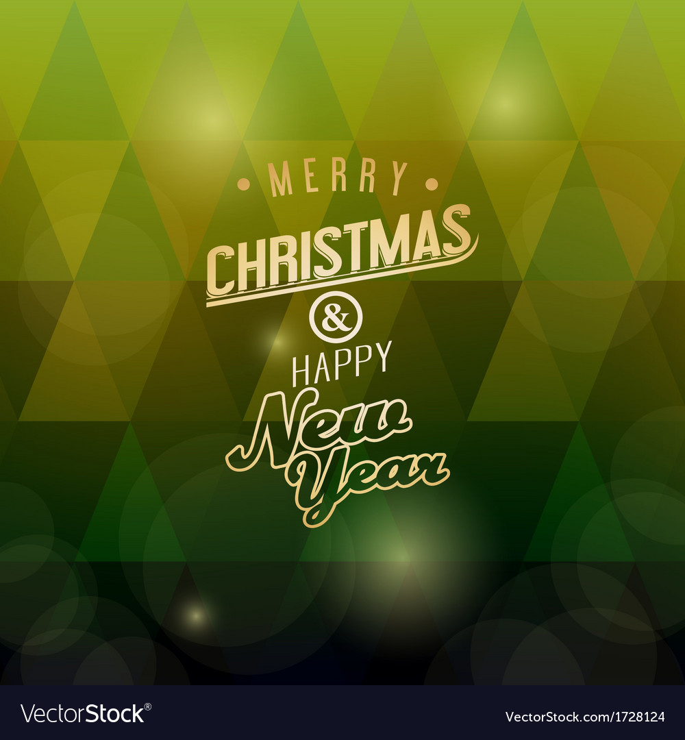 A merry christmas green triangular background vector | Price: 1 Credit (USD $1)