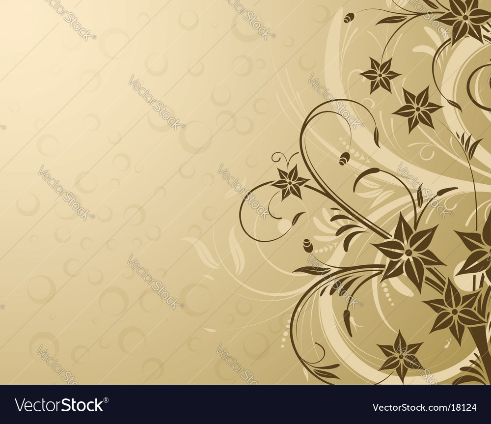 Flower design background vector | Price: 1 Credit (USD $1)