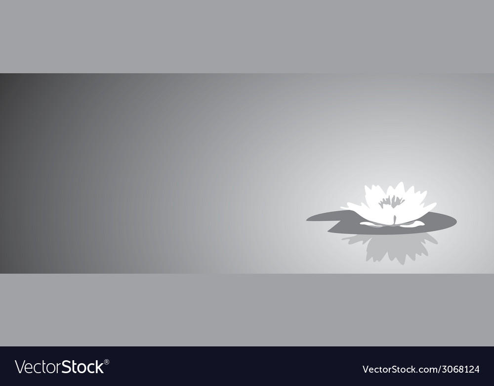 Flower lily against a dark background vector | Price: 1 Credit (USD $1)