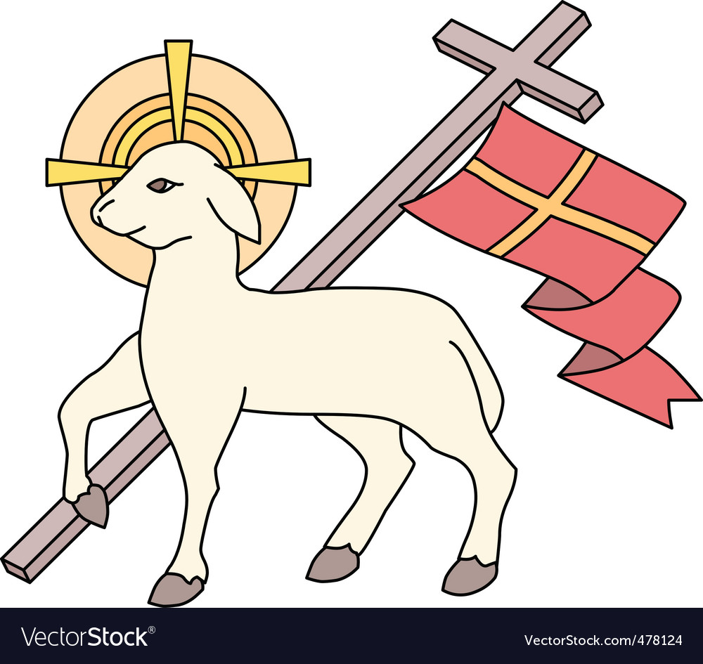 Lamb as a symbol of easter vector | Price: 1 Credit (USD $1)