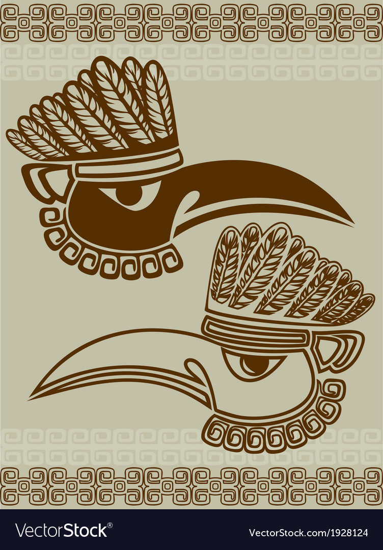 Native american raven mask with pattern stencil vector | Price: 1 Credit (USD $1)