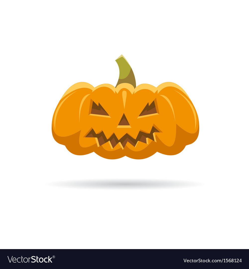 Pumpkin isolated on a white backgrounds vector | Price: 1 Credit (USD $1)