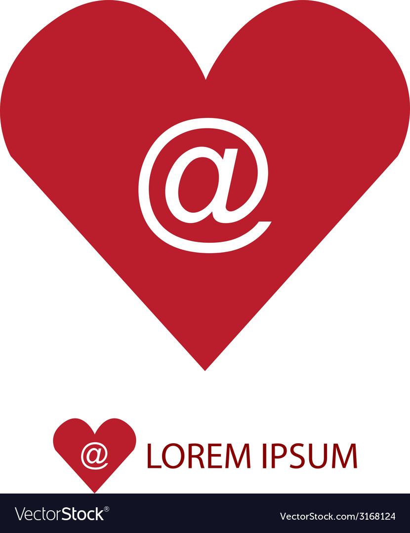 Red love mail symbol vector | Price: 1 Credit (USD $1)