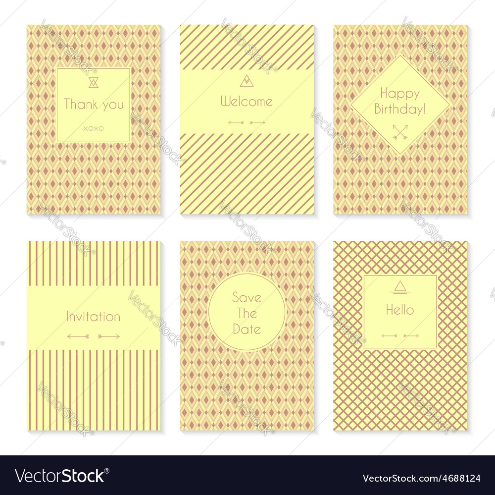 Set of card templates or brochures vector | Price: 1 Credit (USD $1)