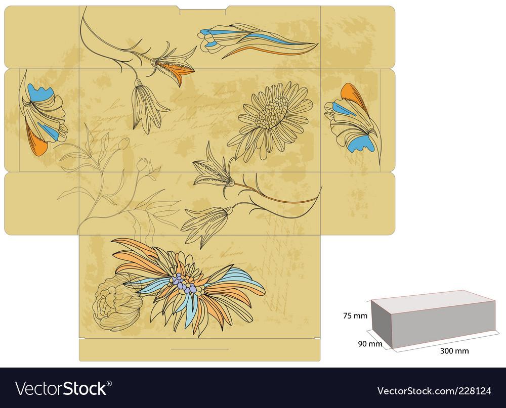 Template for decorative box vector   Price: 1 Credit (USD $1)