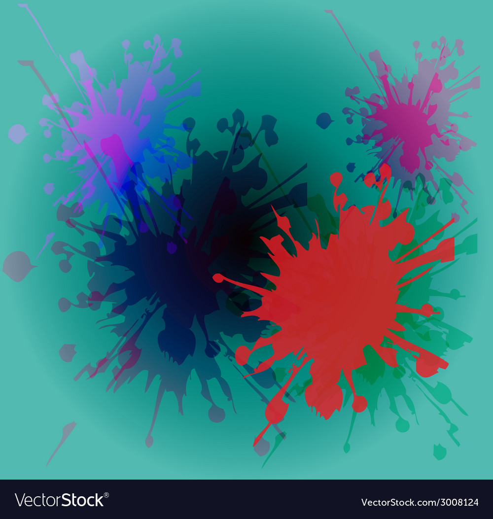 Watercolor paint splash on blue background vector | Price: 1 Credit (USD $1)