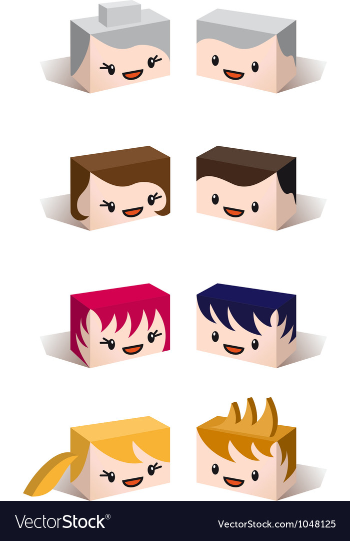 3d family avatars vector | Price: 1 Credit (USD $1)