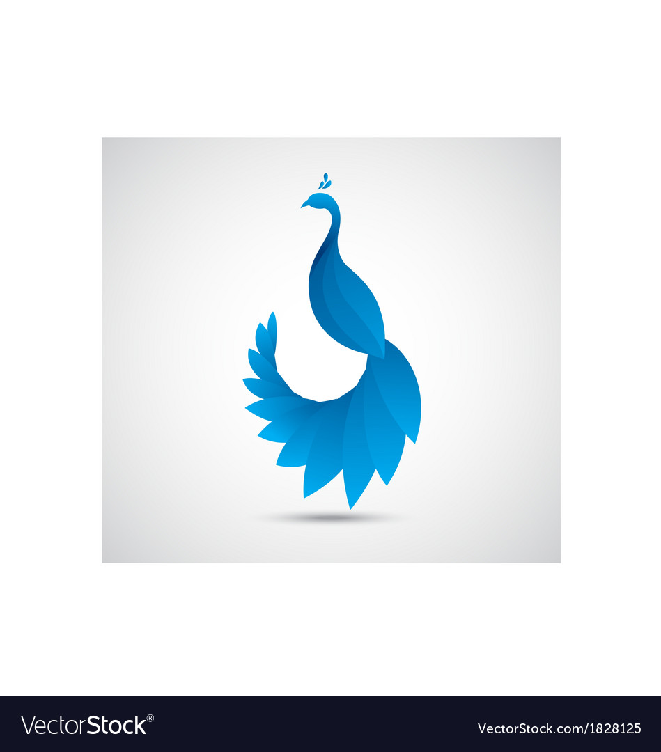 Abstract peacock leaf icon vector | Price: 1 Credit (USD $1)