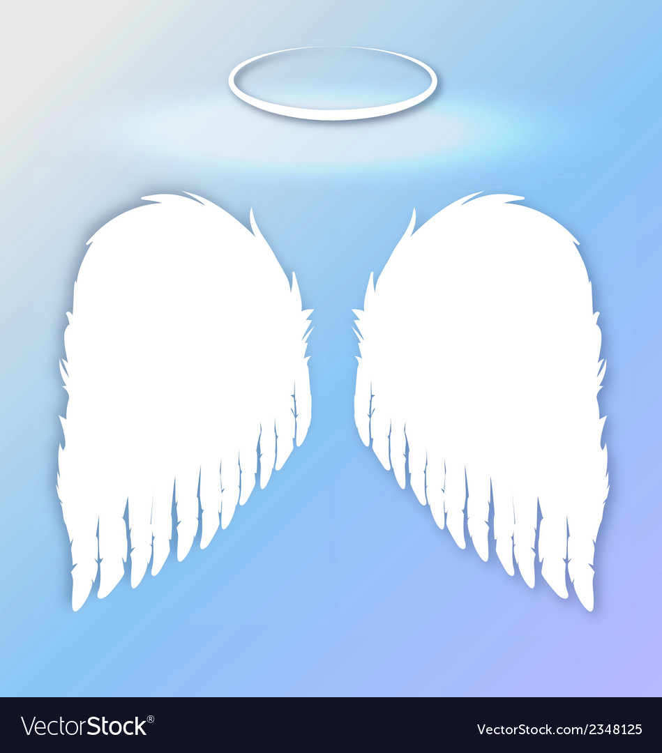 Angel wings sky vector | Price: 1 Credit (USD $1)