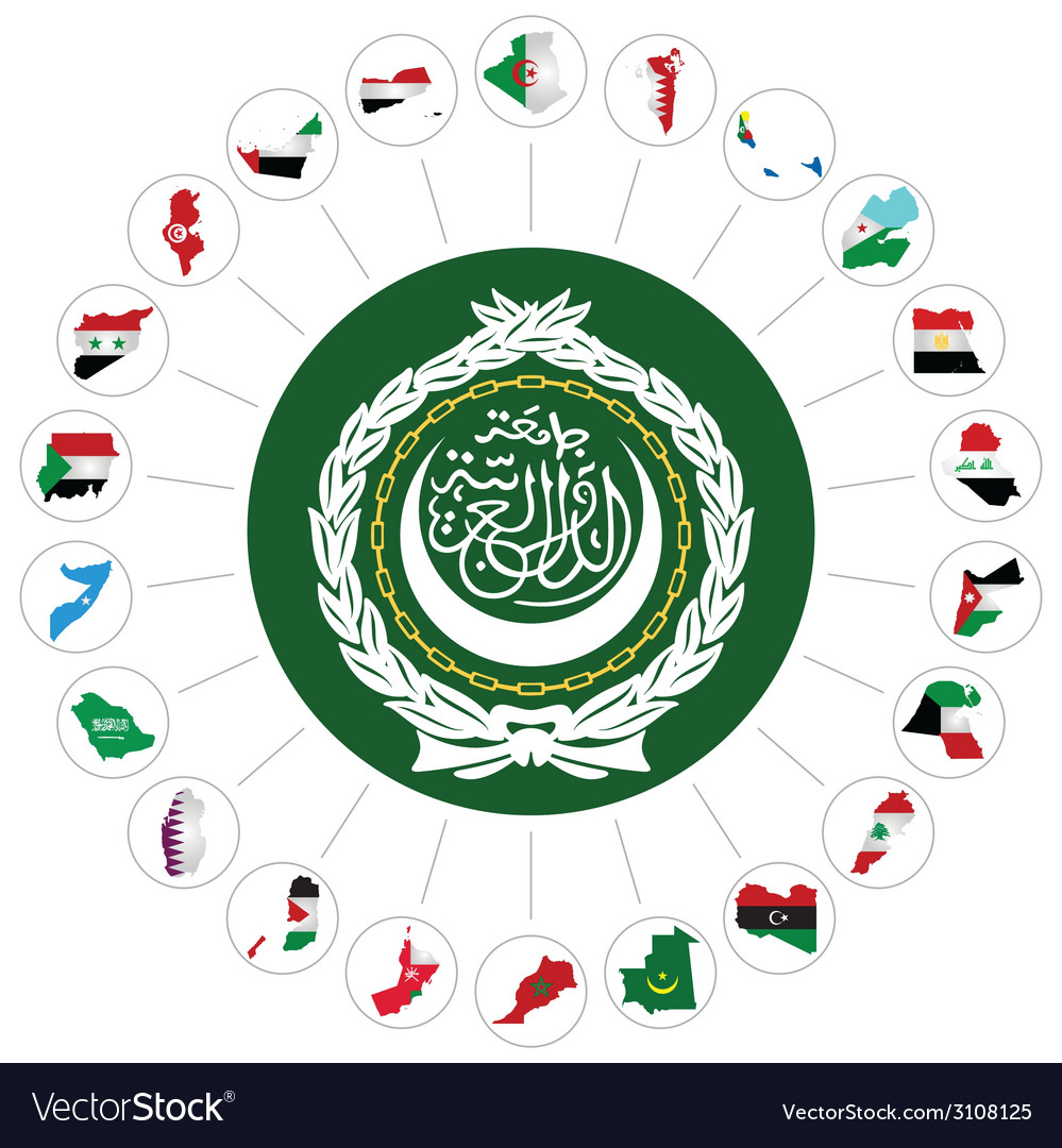 Arab league member states vector | Price: 1 Credit (USD $1)