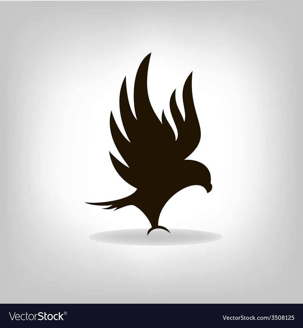 Black eagle with outstretched wings vector | Price: 1 Credit (USD $1)