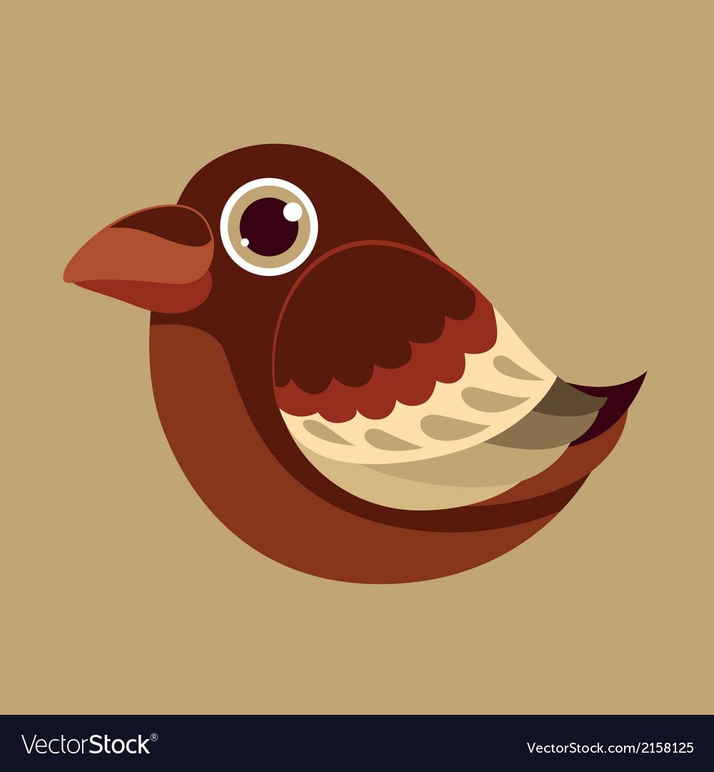 Crow cute bird abstract prehistoric color vector | Price: 1 Credit (USD $1)