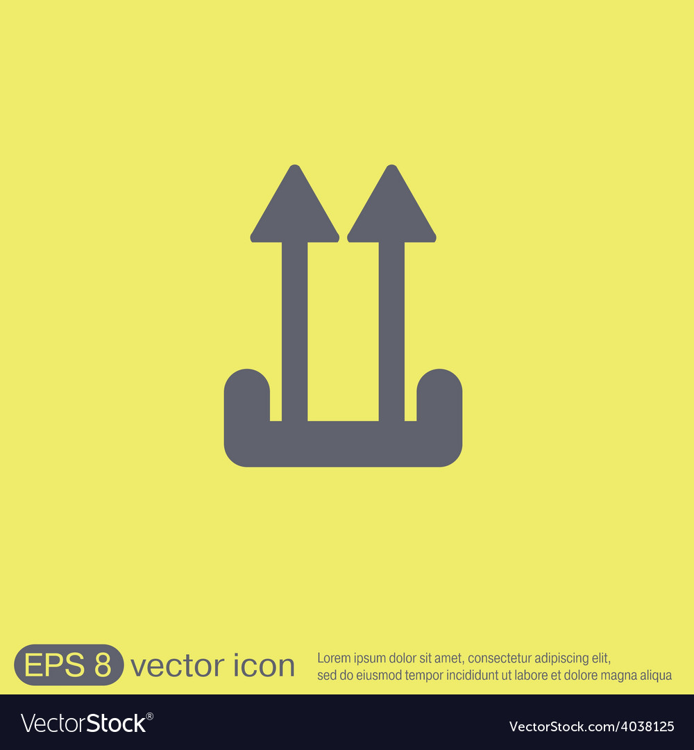 Fragile symbol arrow up logistic icon vector | Price: 1 Credit (USD $1)