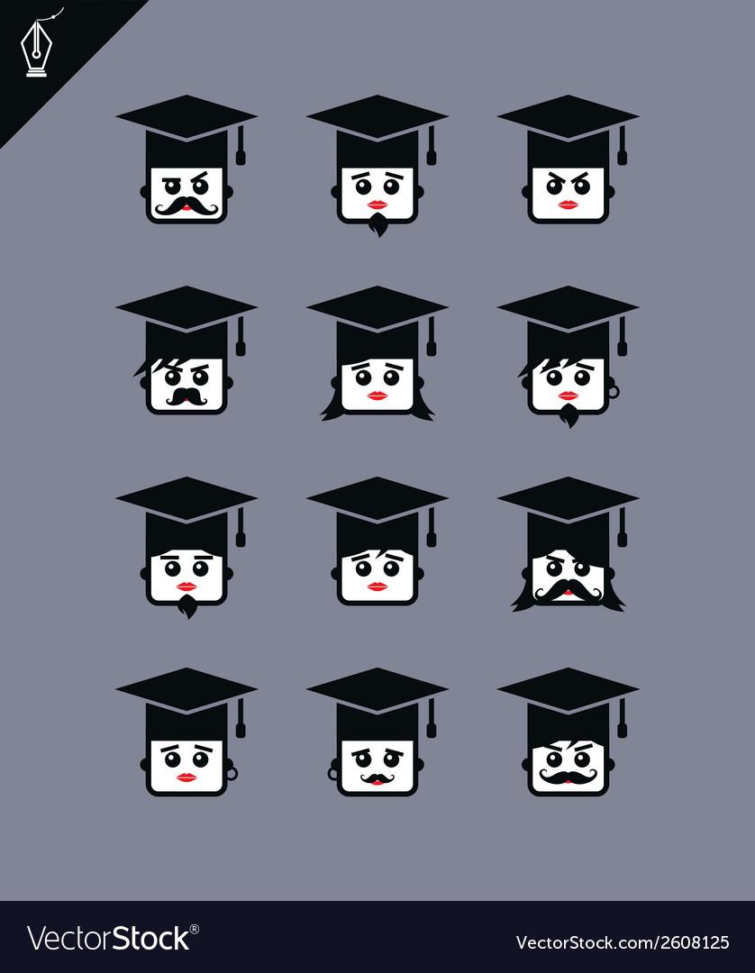 Graduation cap vector   Price: 1 Credit (USD $1)
